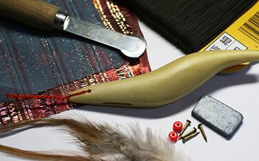 餌木を自作していたころのパーツと工具
