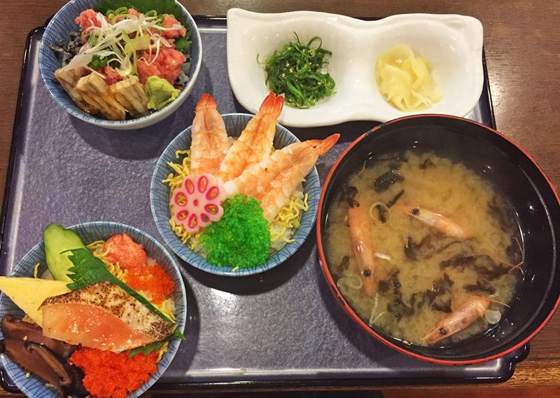 海鮮ミニ丼トリオ