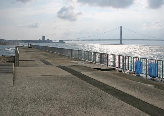 防波堤や護岸
