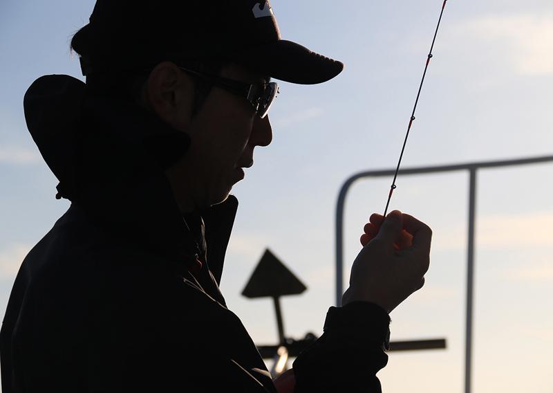 釣り人シルエット