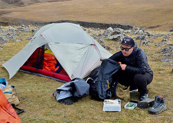 3_テントを設営