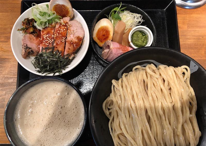 つけ麺レアポーク丼ランチ