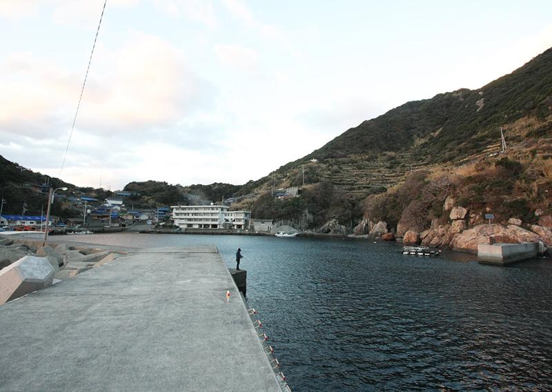 鵜来島の港