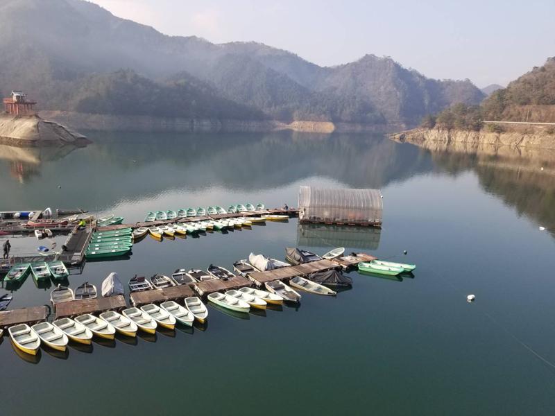 生野銀山湖(レンタルボート湖畔)
