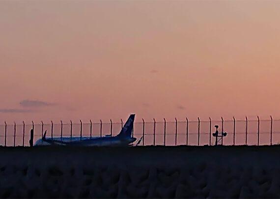 10_夕暮れの飛行場