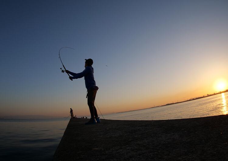 08_ 釣りシーン(水平線と釣り人)