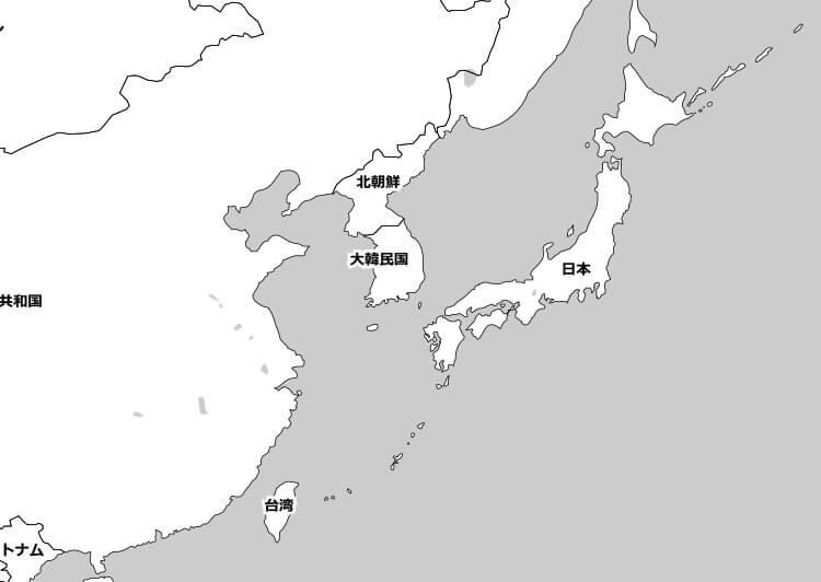 日本と台湾の位置関係の地図