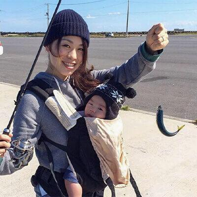 06_ image1.jpg 抱っこ紐で抱っこしたままの釣果