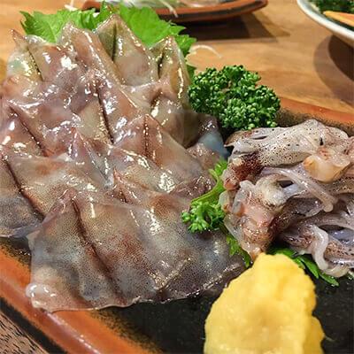 13_ IMG_1173 ホタルイカの酢味噌と天ぷら料理