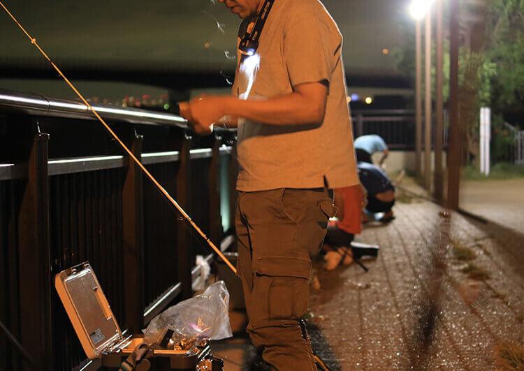 夜タチウオ釣り