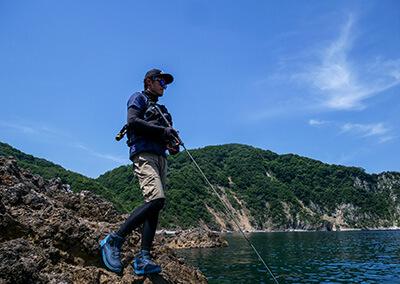岩場の釣り