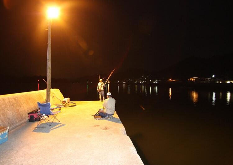 02 夜釣りシーン(常夜灯)