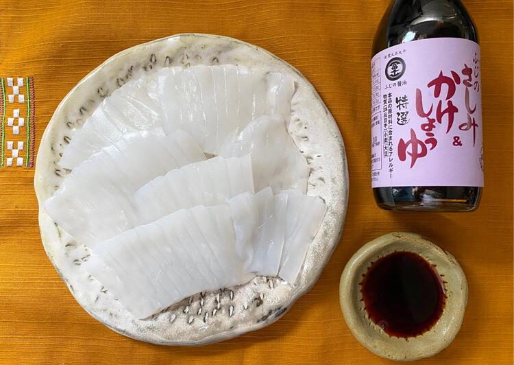 20_ IMG_2878 イカの刺身と醤油